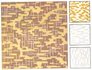 Образцы трехцветной отделки валиками.